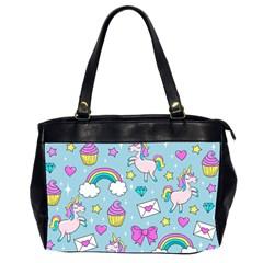 Cute Unicorn Pattern Office Handbags (2 Sides)  by Valentinaart