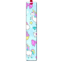 Cute Unicorn Pattern Large Book Marks by Valentinaart