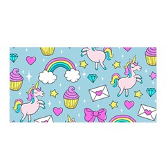 Cute Unicorn Pattern Satin Wrap by Valentinaart