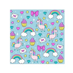 Cute Unicorn Pattern Small Satin Scarf (square) by Valentinaart
