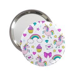 Cute Unicorn Pattern 2 25  Handbag Mirrors