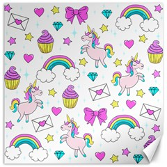 Cute Unicorn Pattern Canvas 20  X 20