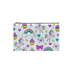 Cute Unicorn Pattern Cosmetic Bag (small)