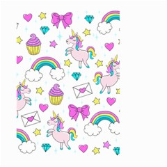 Cute Unicorn Pattern Large Garden Flag (two Sides)