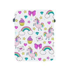 Cute Unicorn Pattern Apple Ipad 2/3/4 Protective Soft Cases by Valentinaart