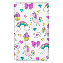 Cute Unicorn Pattern Samsung Galaxy Tab Pro 8 4 Hardshell Case by Valentinaart