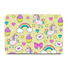 Cute Unicorn Pattern Plate Mats by Valentinaart