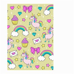 Cute Unicorn Pattern Small Garden Flag (two Sides) by Valentinaart