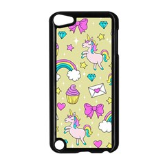 Cute Unicorn Pattern Apple Ipod Touch 5 Case (black) by Valentinaart