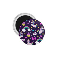 Cute Unicorn Pattern 1 75  Magnets by Valentinaart