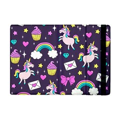 Cute Unicorn Pattern Apple Ipad Mini Flip Case by Valentinaart