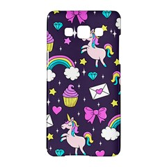 Cute Unicorn Pattern Samsung Galaxy A5 Hardshell Case  by Valentinaart