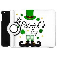 St Patricks Leprechaun Apple Ipad Mini Flip 360 Case by Valentinaart