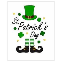 St Patricks Leprechaun Drawstring Bag (small) by Valentinaart