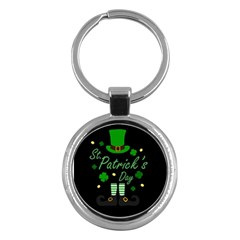 St Patricks Leprechaun Key Chains (round)  by Valentinaart