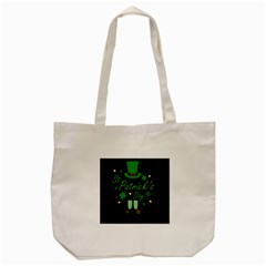 St Patricks Leprechaun Tote Bag (cream) by Valentinaart