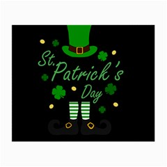 St Patricks Leprechaun Small Glasses Cloth (2 Side) by Valentinaart