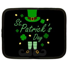 St Patricks Leprechaun Netbook Case (xl)  by Valentinaart