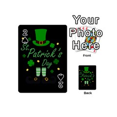 St Patricks Leprechaun Playing Cards 54 (mini)  by Valentinaart