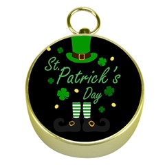 St Patricks Leprechaun Gold Compasses by Valentinaart