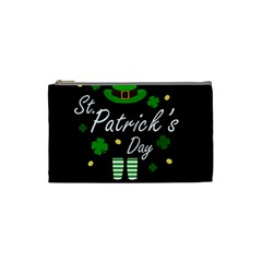 St Patricks Leprechaun Cosmetic Bag (small)  by Valentinaart