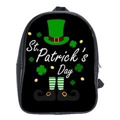 St Patricks Leprechaun School Bag (xl) by Valentinaart