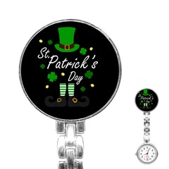 St Patricks Leprechaun Stainless Steel Nurses Watch by Valentinaart