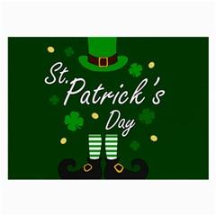 St Patricks Leprechaun Large Glasses Cloth (2 Side)