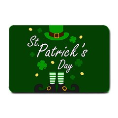 St Patricks Leprechaun Small Doormat  by Valentinaart