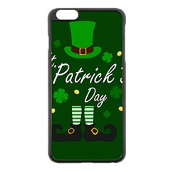 St Patricks Leprechaun Apple Iphone 6 Plus/6s Plus Black Enamel Case by Valentinaart