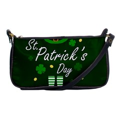 St Patricks Leprechaun Shoulder Clutch Bags by Valentinaart