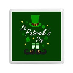 St Patricks Leprechaun Memory Card Reader (square)  by Valentinaart