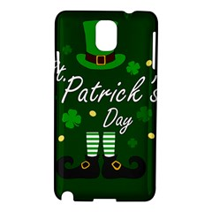 St Patricks Leprechaun Samsung Galaxy Note 3 N9005 Hardshell Case by Valentinaart