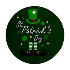 St Patricks Leprechaun Ornament (round) by Valentinaart