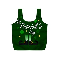 St Patricks Leprechaun Full Print Recycle Bags (s)  by Valentinaart
