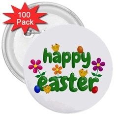 Happy Easter 3  Buttons (100 Pack)  by Valentinaart