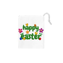 Happy Easter Drawstring Pouches (xs)  by Valentinaart