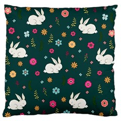 Easter Bunny  Large Flano Cushion Case (two Sides) by Valentinaart