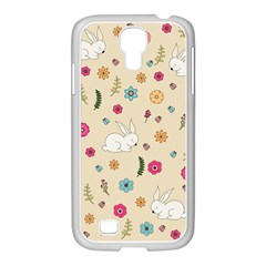 Easter Bunny  Samsung Galaxy S4 I9500/ I9505 Case (white) by Valentinaart