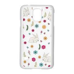 Easter Bunny  Samsung Galaxy S5 Case (white) by Valentinaart