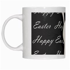 Easter Bunny  White Mugs