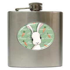 Easter Bunny  Hip Flask (6 Oz) by Valentinaart