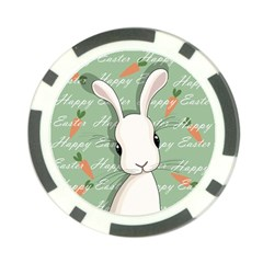 Easter Bunny  Poker Chip Card Guard by Valentinaart