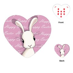 Easter Bunny  Playing Cards (heart)  by Valentinaart