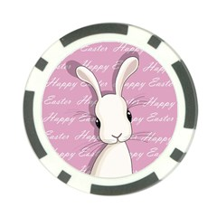 Easter Bunny  Poker Chip Card Guard (10 Pack) by Valentinaart