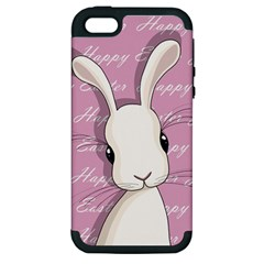 Easter Bunny  Apple Iphone 5 Hardshell Case (pc+silicone) by Valentinaart