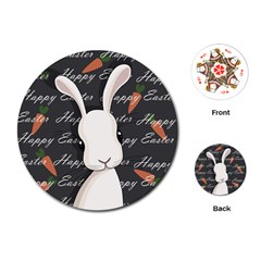 Easter Bunny  Playing Cards (round)  by Valentinaart