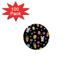 Easter Kawaii Pattern 1  Mini Buttons (100 Pack)