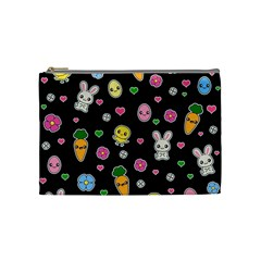 Easter Kawaii Pattern Cosmetic Bag (medium)  by Valentinaart