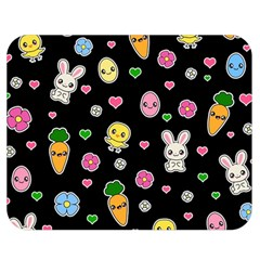 Easter Kawaii Pattern Double Sided Flano Blanket (medium)
